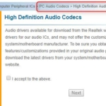 ステレオミキサーを使うために最新のRealtekのAudio Driver(High Definition Audio Co